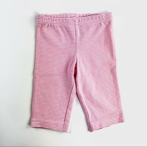 Pink striped baby pants